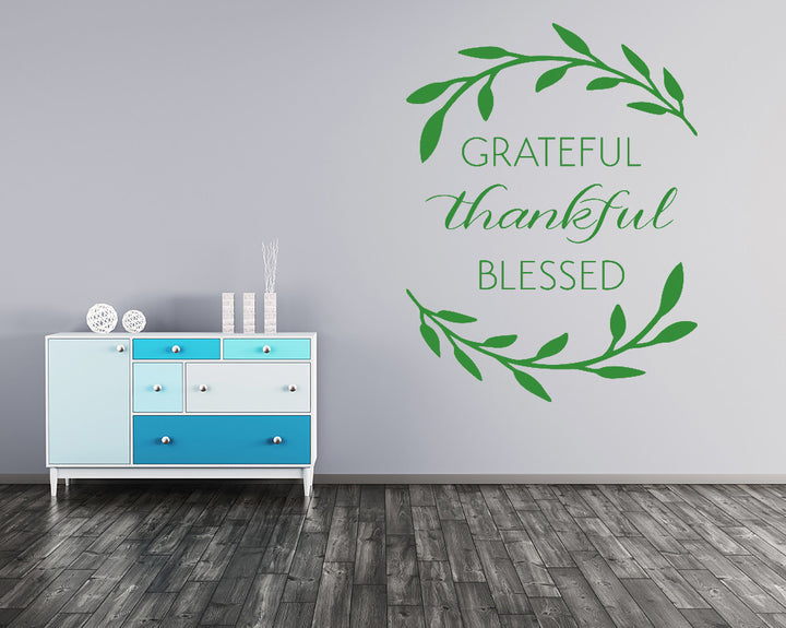 Grateful Thankful Blessed Decal Vinyl Wall Sticker
