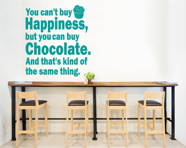 Chocolate Happiness Love Decal Vinyl Wall Sticker