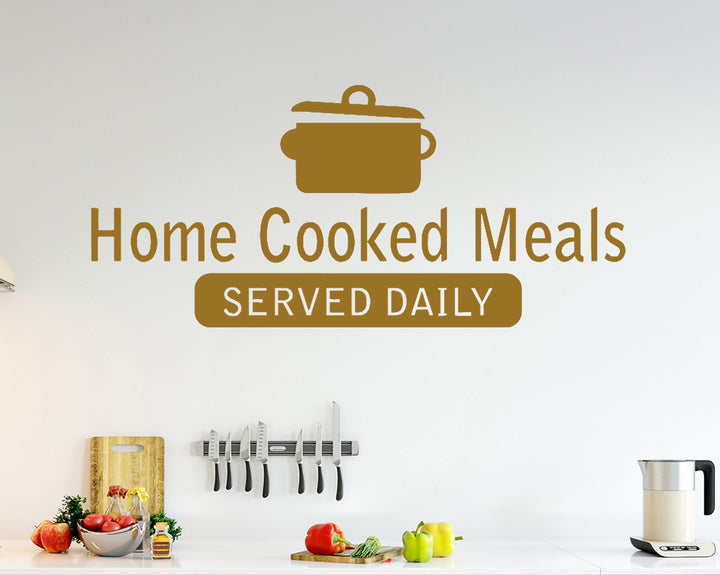 Home Cooked Meals Decal Vinyl Wall Sticker