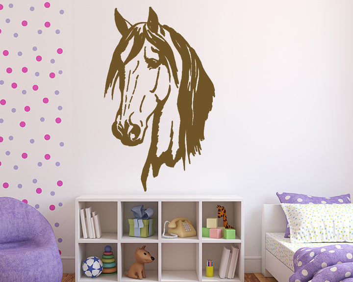 Horse Animal Head Decal Vinyl Wall Sticker