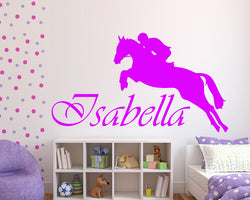 Personalised Horse Jump Decal Vinyl Wall Sticker