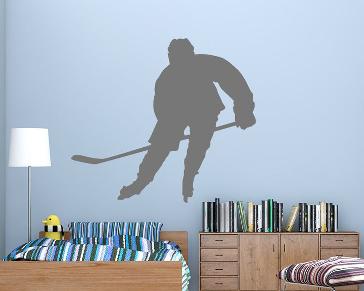 Ice Hockey Player Decal Vinyl Wall Sticker