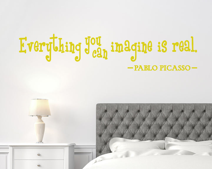 Imagination Real Quote Decal Vinyl Wall Sticker