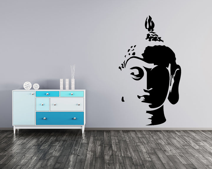 Buddha Head Decal Vinyl Wall Sticker