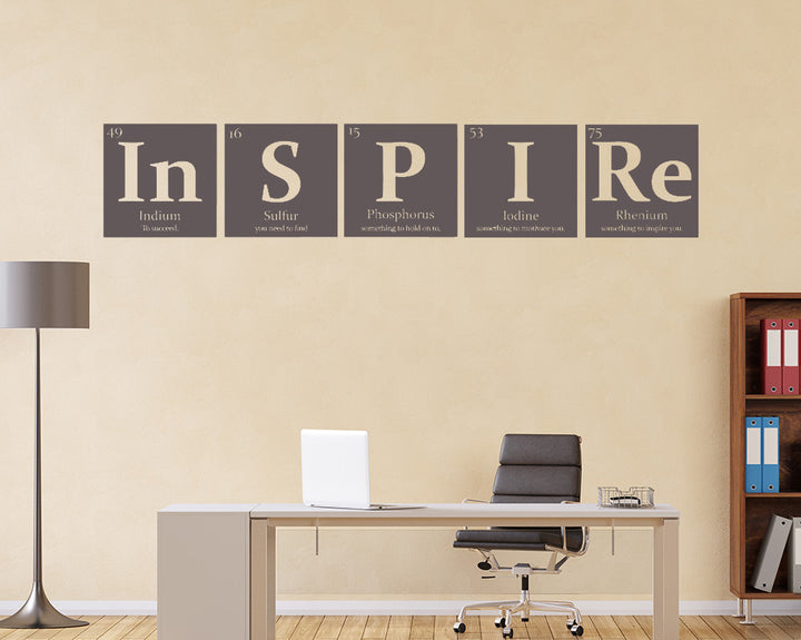 Inspire Periodic Table Decal Vinyl Wall Sticker