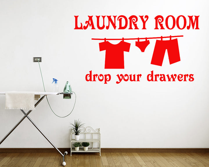 Washing Line Decal Vinyl Wall Sticker