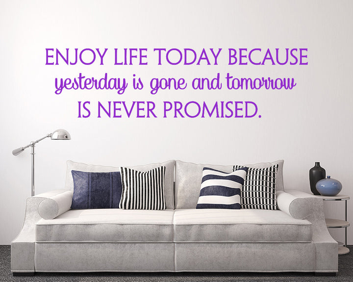 Live For Today Decal Vinyl Wall Sticker