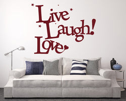 Live Laugh Love Decal Vinyl Wall Sticker