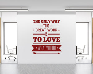Love Work Ambition Decal Vinyl Wall Sticker