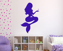 Music Note Mermaid Decal Vinyl Wall Sticker