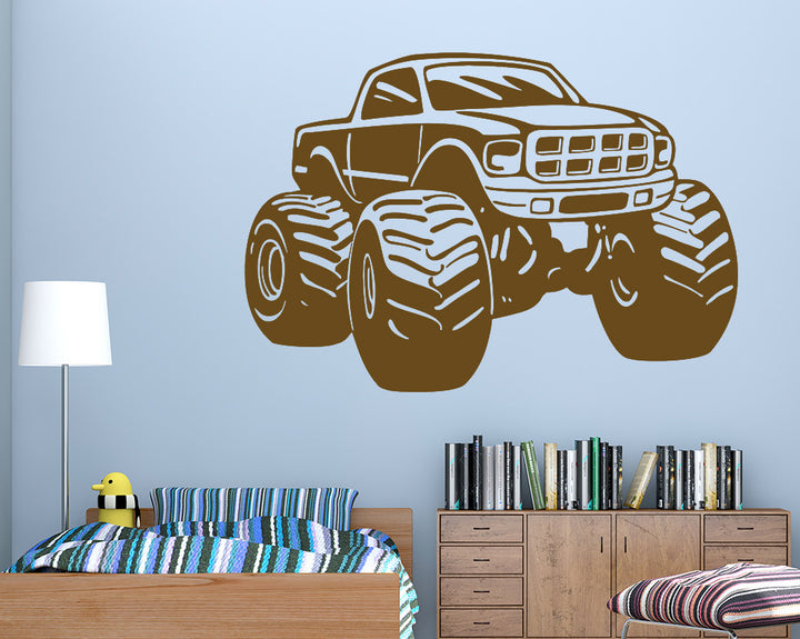 Cool Monster Truck Decal Vinyl Wall Sticker