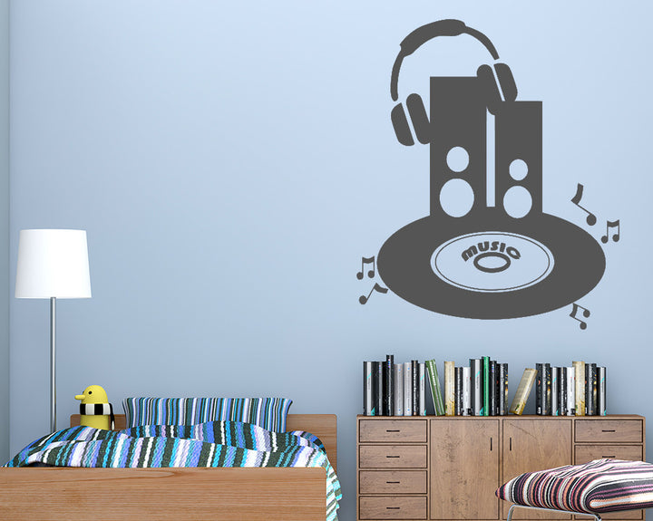 Music Speakers Record Decal Vinyl Wall Sticker
