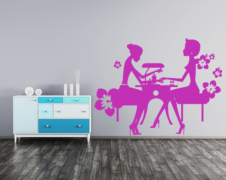 Nail Art Girls Decal Vinyl Wall Sticker