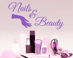 Nails Beauty Sign Decal Vinyl Wall Sticker