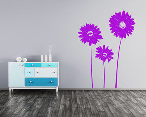 Pretty Flowers Decal Vinyl Wall Sticker