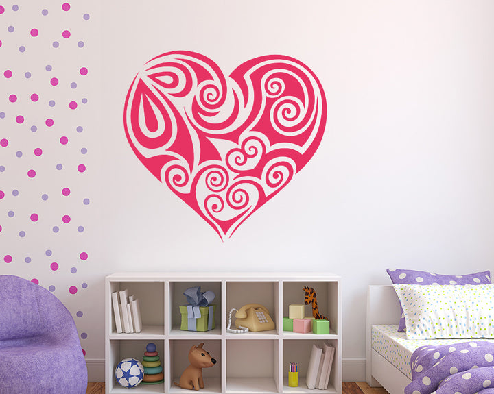 Decorative Heart Decal Vinyl Wall Sticker