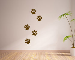 Dog Paw Prints Decal Vinyl Wall Sticker