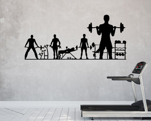 Gym Session Weights Decal Vinyl Wall Sticker