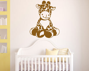 Cute Cartoon Giraffe Decal Vinyl Wall Sticker
