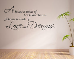 Home Love And Dreams Decal Vinyl Wall Sticker