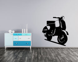 Cool Scooter Decal Vinyl Wall Sticker