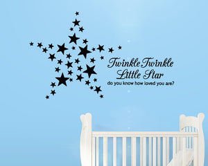 Twinkle Little Star Ryhme Decal Vinyl Wall Sticker