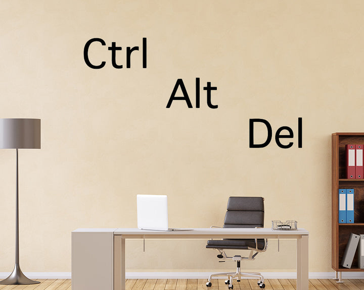 Control Alt Delete Decal Vinyl Wall Sticker