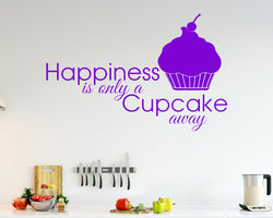 Happiness Cupcake Decal Vinyl Wall Sticker