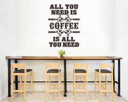 Coffee Need Quote Caffeine Decal Vinyl Wall Sticker
