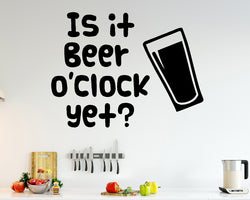 Beer O'Clock Alcohol Decal Vinyl Wall Sticker