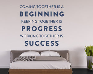 Working Together Progress Decal Vinyl Wall Sticker
