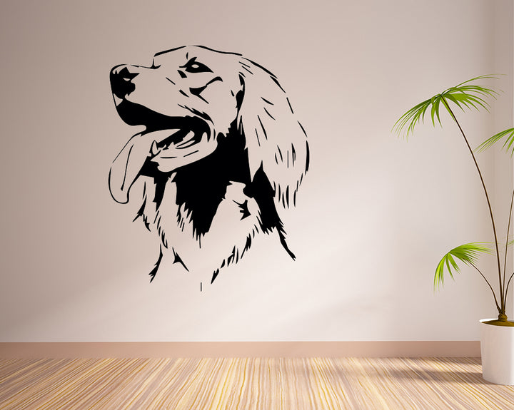 Cute Dog Head Pet Decal Vinyl Wall Sticker