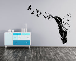 Feather Birds Freedom Decal Vinyl Wall Sticker
