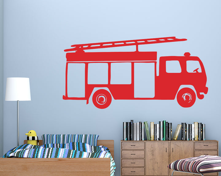 Fire Engine Truck Decal Vinyl Wall Sticker