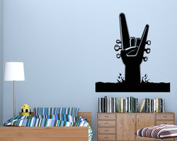 Rock Roll Music Guitar Decal Vinyl Wall Sticker