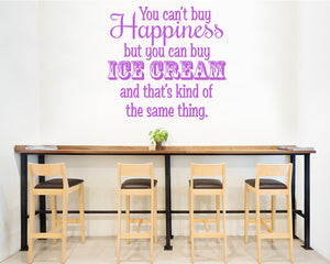 Ice Cream Happiness Decal Vinyl Wall Sticker