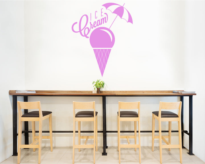 Ice Cream Summer Decal Vinyl Wall Sticker