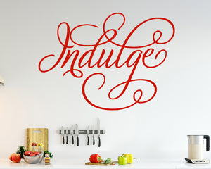 Indulge Food Goodness Decal Vinyl Wall Sticker