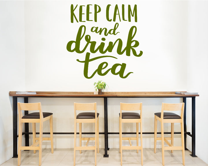 Keep Calm Drink Tea Decal Vinyl Wall Sticker