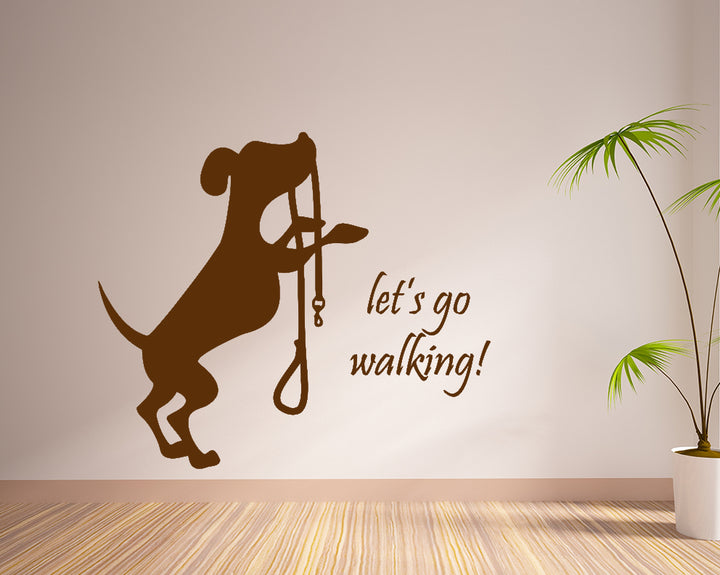 Dog Animal Walk Decal Vinyl Wall Sticker