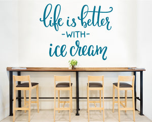 Life Ice Cream Happy Decal Vinyl Wall Sticker