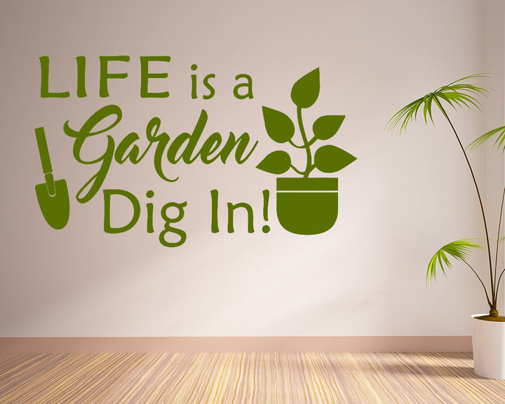 Life Garden Plants Decal Vinyl Wall Sticker