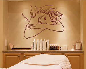 Massage Pamper Relax Decal Vinyl Wall Sticker