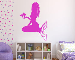 Mermaid Girl Ocean Decal Vinyl Wall Sticker