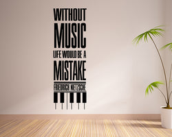 Music Life Mistake Decal Vinyl Wall Sticker