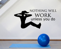 Exercise Motivate Work Decal Vinyl Wall Sticker