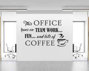 Team Work Coffee Decal Vinyl Wall Sticker