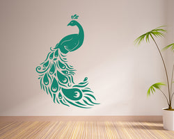 Peacock Bird Feathers Decal Vinyl Wall Sticker