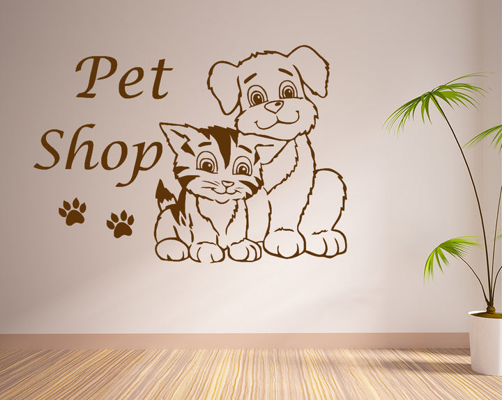 Dog Cat Grooming Animal Decal Vinyl Wall Sticker
