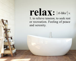 Relax Peace Serenity Decal Vinyl Wall Sticker